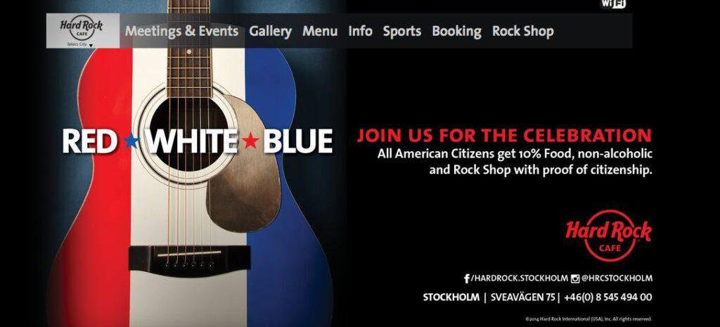 hardrock celebrate 4th july stockholm