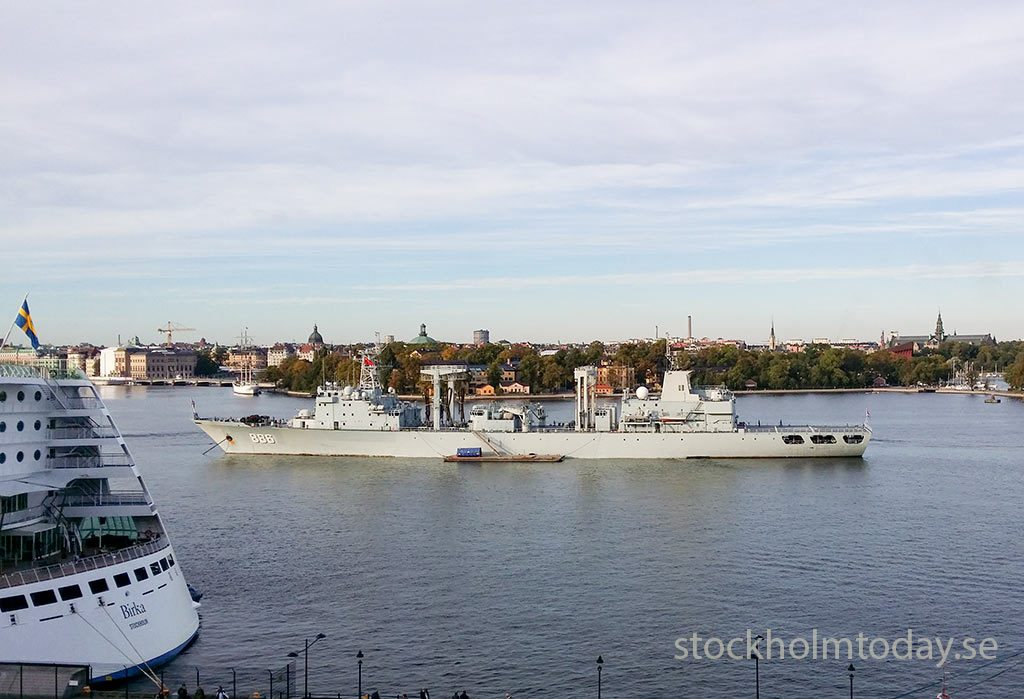 Chinese Navy military in Stockholm