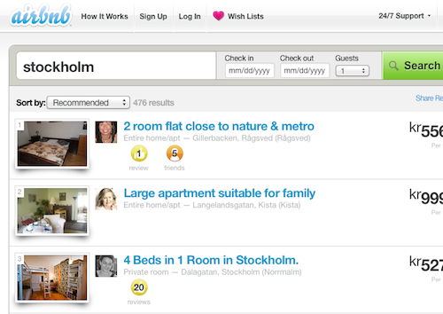 airbnb stockholm today