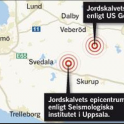 Earthquake in Sweden