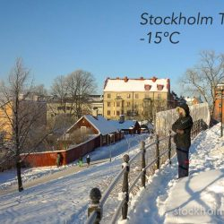 Stockholm cold weather – be careful out there