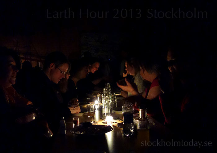 earth hour stockholm today