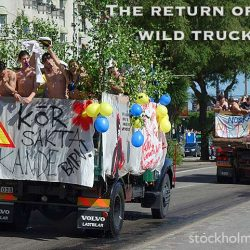 Student celebrations on trucks