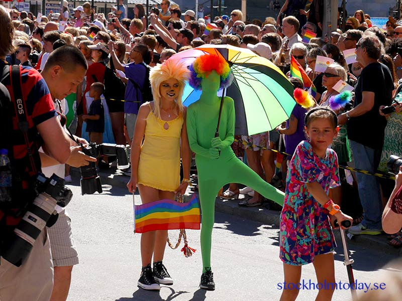 Pride parade and festivals all over Stockholm