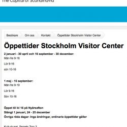 New home for Stockholm tourist center