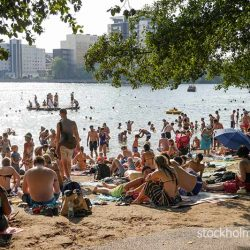 Most popular city beach Stockholm