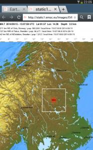 earthquake sweden september 15 2014