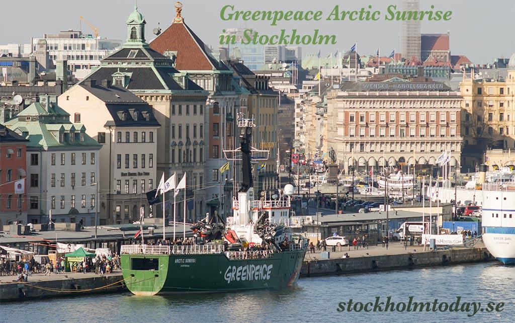 greenpeace stockholm arctic sunrise