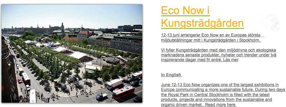 stockholm today eco now organic