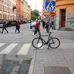 Bike parking in Stockholm