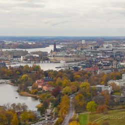 Stockholm autum colors from above