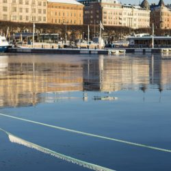stockholm today harbor ice