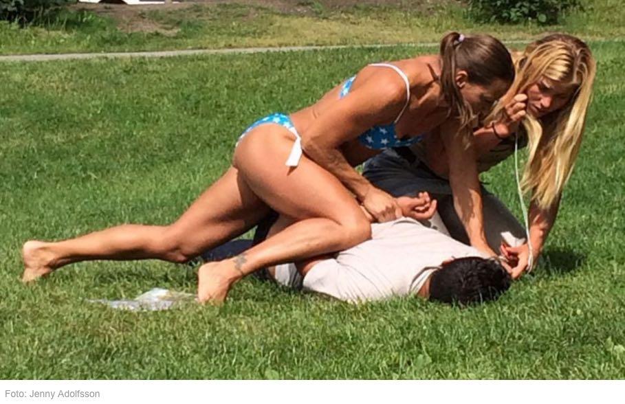 swedish bikini police woman makes arrest