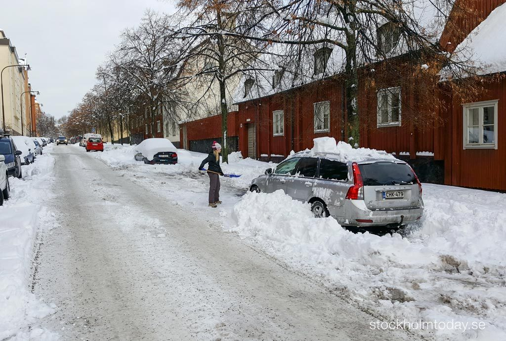 winter snow in Stockholm