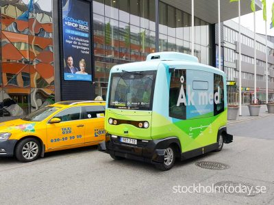 Self driving bus in Stockholm