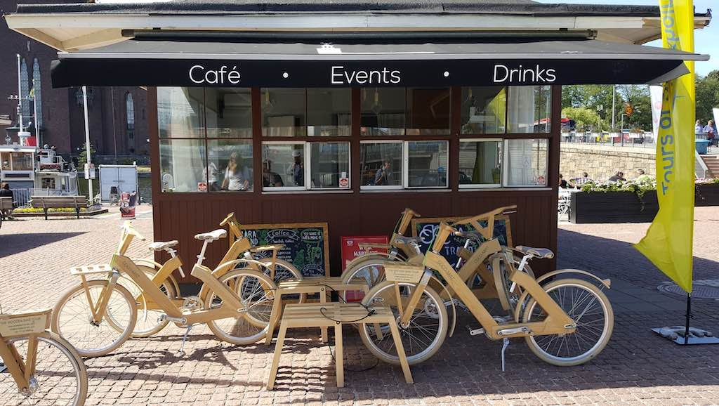 wooden bike stockholm